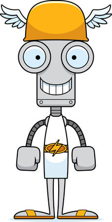 hermes: A cartoon Hermes robot smiling.