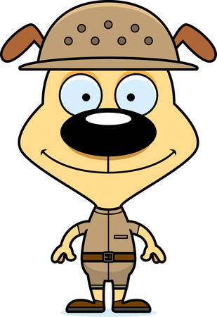 adventurer: A cartoon zookeeper puppy smiling.