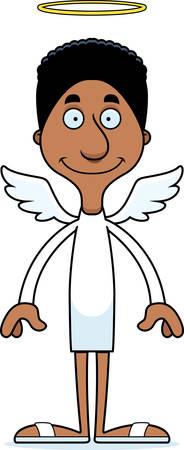 angel: A cartoon angel man smiling.