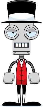 ringmaster: A cartoon ringmaster robot looking bored.