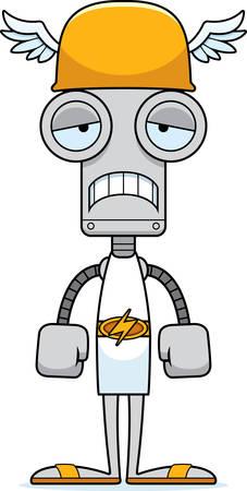 hermes: A cartoon Hermes robot looking sad.