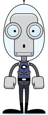spacesuit: A cartoon spaceman robot looking surprised.