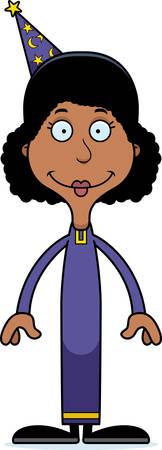 A cartoon wizard woman smiling. Reklamní fotografie - 44712440