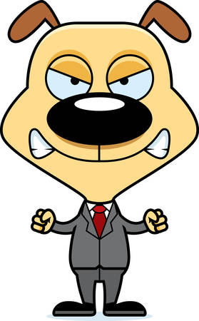 businesspersons: A cartoon businessperson puppy looking angry.