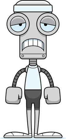 headbands: Un robot de fitness historieta que parece triste.