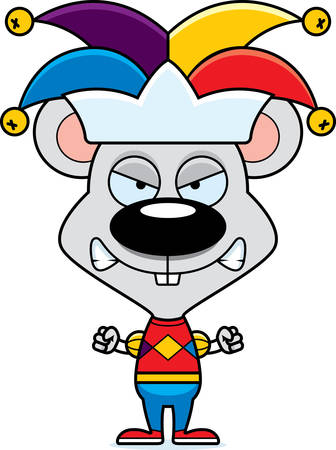jester: A cartoon jester mouse looking angry.
