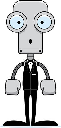 A cartoon groom robot looking surprised.