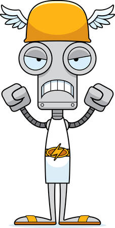 hermes: A cartoon Hermes robot looking angry.
