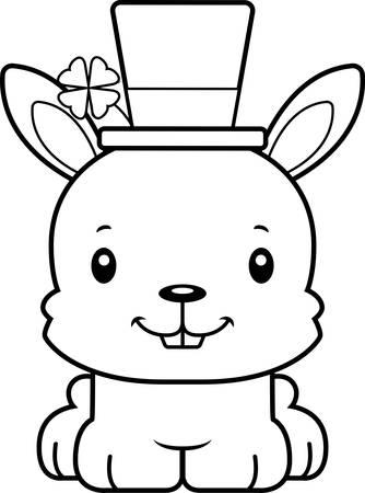 irish: A cartoon Irish bunny smiling.