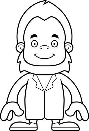 A cartoon doctor sasquatch smiling.