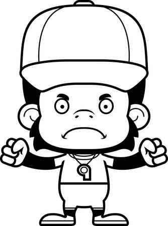 A cartoon chimpanzee looking angry.