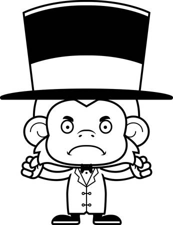 primate: A cartoon ringmaster monkey looking angry.