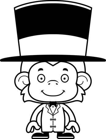 ringmaster: A cartoon ringmaster monkey smiling.