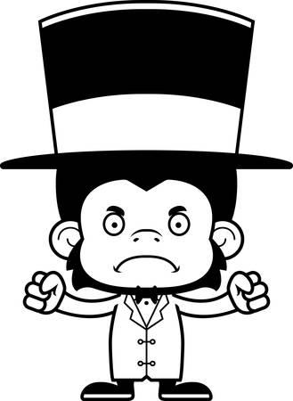 ringmaster: A cartoon ringmaster chimpanzee looking angry.