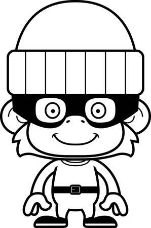 burglars: A cartoon thief monkey smiling.