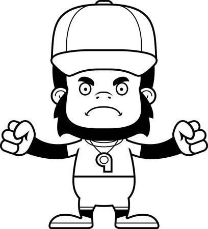 A cartoon gorilla looking angry.