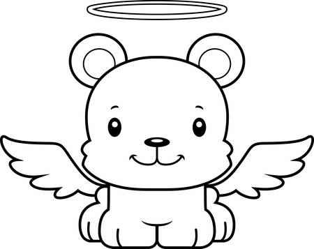 angel: A cartoon angel bear smiling.