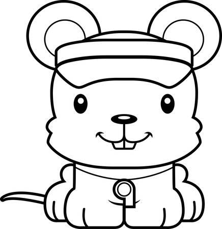 笑みを浮かべて漫画ライフガードのマウス。