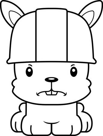 tool belt: A cartoon construction worker bunny looking angry.