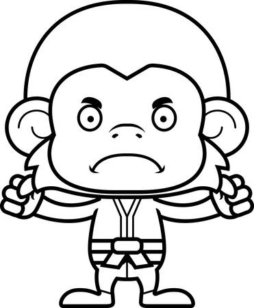 gi: A cartoon karate monkey looking angry.
