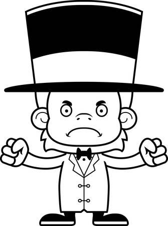ringmaster: A cartoon ringmaster orangutan looking angry.