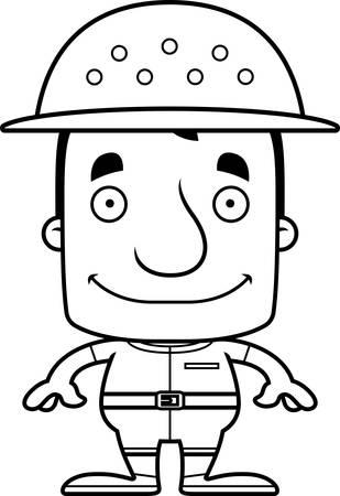 adventurer: A cartoon zookeeper man smiling.