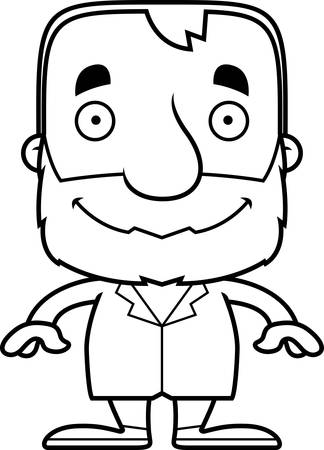 A cartoon doctor man smiling.