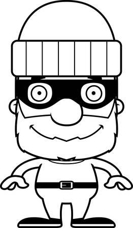 웃 고 만화 도둑 남자입니다.