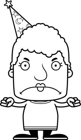 A cartoon wizard woman looking angry. Reklamní fotografie - 44756494