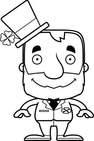 irish: A cartoon Irish man smiling.