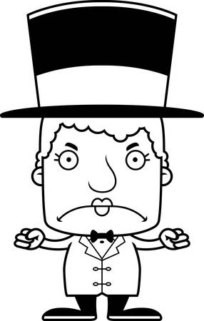 A cartoon ringmaster woman looking angry. Ilustrace