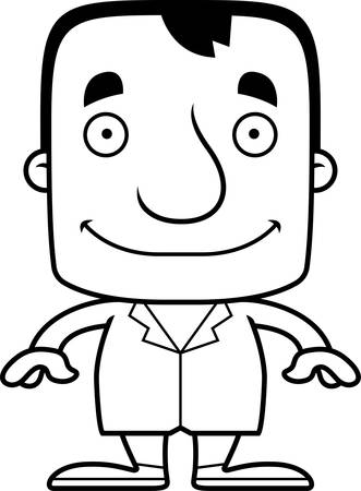 A cartoon doctor man smiling.