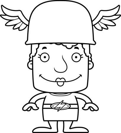 A cartoon  woman smiling. Ilustrace