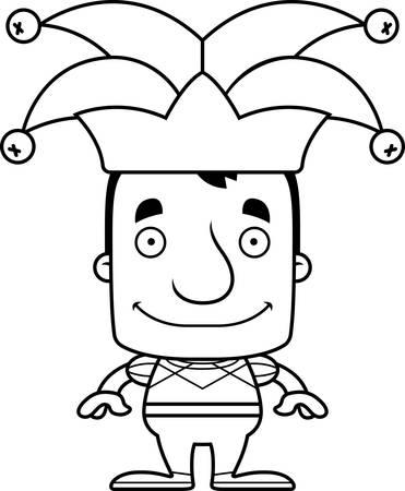 jester: A cartoon jester man smiling.