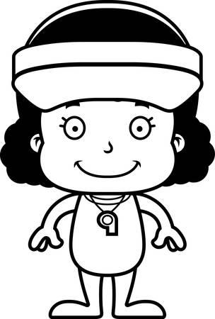 笑みを浮かべて漫画ライフガードの女の子。