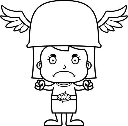 A cartoon Hermes girl looking angry.