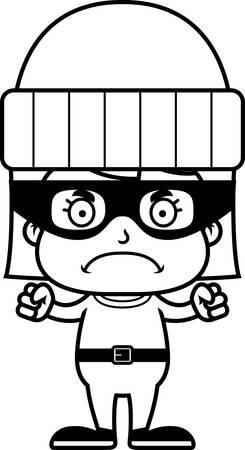 화가 찾고 만화 도둑 소녀입니다. 일러스트