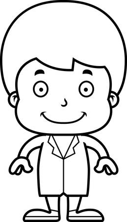 boy doctor: A cartoon doctor boy smiling. Illustration