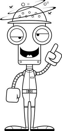 pith: Un robot empleado del zool�gico historieta que parece borracho. Vectores