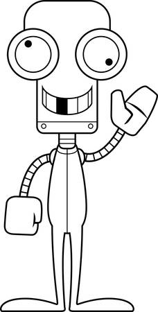 silly: A cartoon robot looking silly in pajamas.