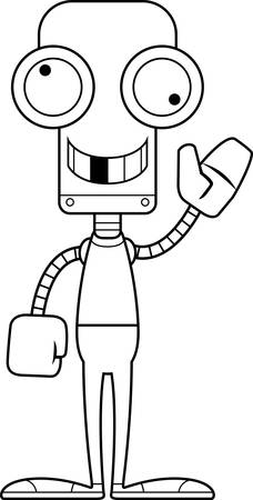 A cartoon robot looking silly.