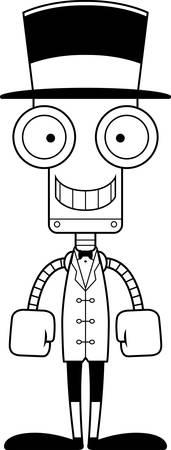 ringmaster: A cartoon ringmaster robot smiling.