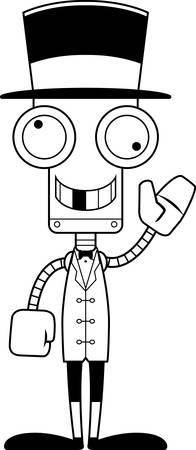 ringmaster: A cartoon ringmaster robot looking silly.