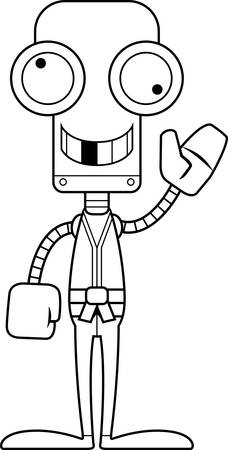 silly: A cartoon karate robot looking silly.