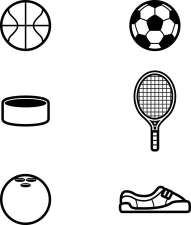 puck: Icon designs and illustrations with a sports theme. Illustration