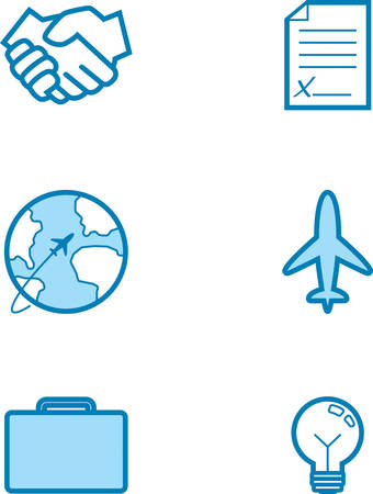 Icon designs and illustrations with a business theme. Stok Fotoğraf - 50292305
