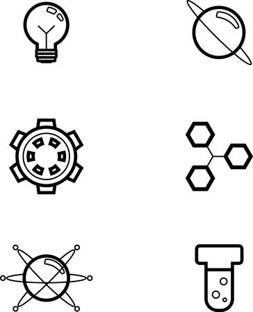 testtube: Icon designs and illustrations with a science theme.