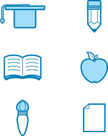 Icon designs and illustrations with an education theme. Çizim