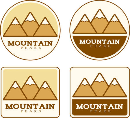 snowcapped mountain: Icon designs and illustrations with a mountain theme.