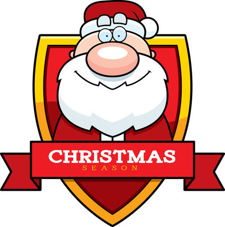 santa claus hats: A cartoon illustration of a Christmas graphic with Santa Claus.